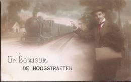 Un Bonjour De HOOGSTRAETEN (avec Train) (carte-photo Couleur) - Hoogstraten