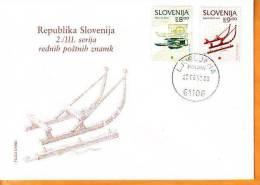 Slovenia 1993 Y FDC Cultural Heritage Mi No 65-66 Postmark Ljubljana 25.08.1993. - Slovenië