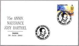 75 Aniv. Nacimiento JOSY BARTHEL - Medalla De Oro Helsinki 1952. Mamer 2002 - Zomer 1952: Helsinki