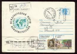 MAIL Used Cover Stationery USSR RUSSIA Provisory Petersburg Leningrad Lansdorf Brazil Forum - 1992-.... Fédération
