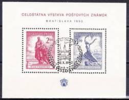 Tchécoslovaquie Mi Bl.13 (Yv BF 16), Obliteré - Hojas Bloque