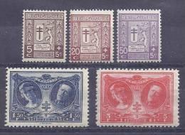 Belgie Postfris Frais Poste YT 240-244 - Belgium