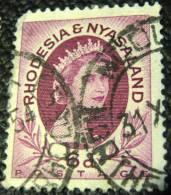 Rhodesia And Nyasaland 1954 Queen Elizabeth II 6d - Used - Rhodesia & Nyasaland (1954-1963)