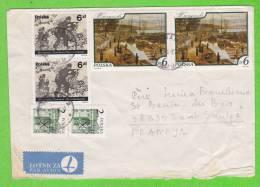 Sur Enveloppe - POLOGNE - 6 Timbres Dont 3 Paires - Polen