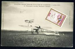 CPA. DEUXIEME SEMAINE D´AVIATION DE CHAMPAGNE 4 Juillet 1910. Olieslagers S'arrête. Weymann S'éloigne. - Reuniones