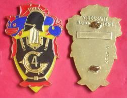 Insigne Militaire : 4° Régiment Du Génie + épingle - Badges & Ribbons