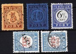 A1360) Niederlande 5 Verschiedene Portomarken Gestempelt ! - Taxes