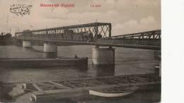 Mansourah Le Pont Train No 16 Edit La Prosperité  Timbrée M. 1909 - Mansourah