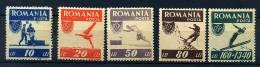 SRoumanie ** N° 916 à 920 - Au Profit De L'Office Des Sports Populaires (foot, Natation, Course, Alpinisme) - Lot 152 - Unused Stamps