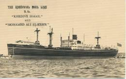 The Khedivial Mail Line S.S. Khedive Ismail And Mohamed Ali El Kebir Real Photo - Egypte