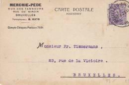 BELGIE  -  CARTE POSTALE  -  MERCHIE - PEDE  -  BRUXELLES 1921 - Belgien