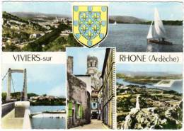 Viviers Sur Rhône, Multivues, Pont, Voilier - Viviers