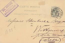 BELGIE  -  CARTE POSTALE  -  EUG. JONNIAUX   -  BRUXELLES 1890 - 1893-1900 Schmaler Bart