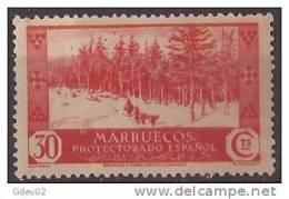 MA153-LA811TVAR.Maroc.Maroco.MARRUECOS ESPAÑOL VISTAS Y PAISAJES.bosque .1935/7.(Ed 153*) Con Charnela MAGNIFICO.RARO - Árboles