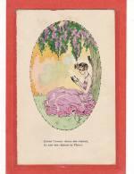 ILLUSTRATEUR / L.YETTI Ou LYETTI / FEMME LISEUSE 1925 DANS UN OVAL / Quand L´amour Donne Des Chaines, Etc... - Illustrateurs & Photographes