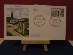 FDC - Caen - 14 Caen - 1.6.1963 Coté 3 € (2013 Y&T) - FDC