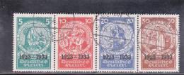 REICH - 1933 - MICHEL N°508/511 OBLITERE - RARE - COTE > 1600 EUR. - Used Stamps