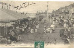 189..TROUVILLE..LA POTINIERE...LE 17/8/1911...DOS VERT...TIMBRE A CHEVAL.... - Trouville