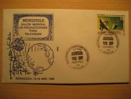SPAIN Zaragoza 1988 Mundi Tele Space Spatial Radio Tv Television Funk Rundfunk Antenna Antenne Satellite Telegraph - Telecom