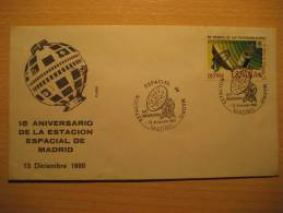 SPAIN Madrid 1980 Estacion Espacial Spatial Space Radio Tv Television Funk Rundfunk Antenna Antenne Satellite Telegraph - Telecom