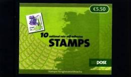 IRELAND/EIRE - 2009  € 5.50  BOOKLET  FLOWERS  SELF-ADHESIVE  MINT NH - Irlanda