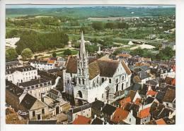 ETAMPES 91 - Vue Aérienne Sur L'église Notre Dame Au Fort - CPSM GF - Essonne - Etampes