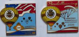 Pins SUPERBE LOT DE 2 PIN'S MONTGOLFIERE - Montgolfier