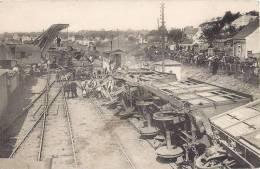 ACCIDENT FERROVIAIRE CHATEAU-DU-LOIR 15 MAI 1910 TRAIN CATASTROPHE LOCOMOTIVE DERAILLEMENT - Trains