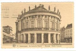 G1530 Antwerpen Anvers - De Fransche Opera - Opera Français - Old Mini Card / Viaggiata 1935 - Antwerpen