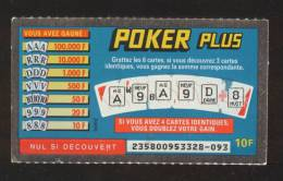 FRANCAISE DES JEUX - POKER PLUS 23580 - BABNE - Billets De Loterie