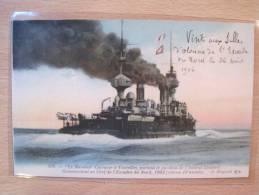 498. Le Massena Cuirassé à Tourelles Portant Le Pavillon De L'Amiral Caillard - Guerra