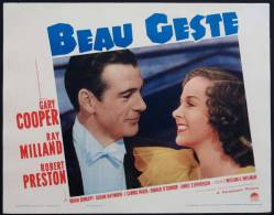 Cartel Affiche Poster BEAU GESTE Movie Poster (1939 )Size: Lobby Card (11x14)REPRODUCTION - Afiches