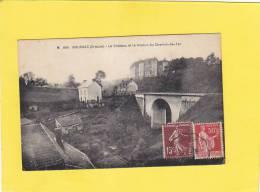 CPA - 23  - BOUSSAC - M 685 . Le Château Et Le Viaduc Du Chemin De Fer - Autres Communes