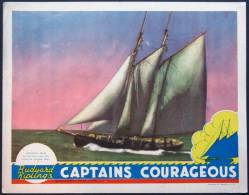 Cartel Affiche Poster CAPTAINS COURAGEOUS Movie Poster (1937) Size: Lobby Card (11x14) REPRODUCTION - Afiches