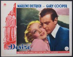 Cartel Affiche Poster DESIRE Movie Poster (1936) Size: Lobby Card (11x14) REPRODUCTION - Afiches