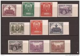 ES604SGDEV-L3930TAO.Spain.Espagne.PANAMERICANA 1931.(Ed 604/13s**)sin Charnela SUPER LUJO BORDE DE HOJA SIN DENTAR - Arte
