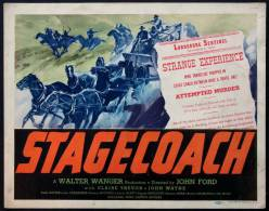 Cartel Affiche Poster STAGECOACH Movie Poster (1939) Size: Lobby Card (11x14) REPRODUCTION - Afiches