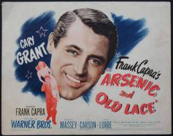 Cartel Affiche Poster ARSENIC AND OLD LACE Movie Poster (1944) Size: Lobby Card (11x14)REPRODUCTION - Afiches