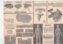 PO6783B# FOGLIO CATALOGO RENWAL BLUEPRINT MODELS - MEZZI MILITARI - MODELLISMO Anni '60 - Altre Collezioni