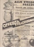 PO6784B# PUBBLICITA' CONFETTURE CIRIO - CARTINA FIGURATA AGRICOLTURA AFRICA ORIENTALE  1936 - Pubblicitari
