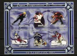 Mozambique Mocambique 2001 N° 1677 / 82 ** Sport, Patinage De Vitesse, Ski Alpin, Curling, Hockey, Obermoser, Schmirler - Mosambik