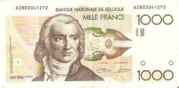 BILLETE DE BELGICA DE 1000 FRANCOS DEL AÑO 1995  (BANK NOTE) P-144 FIRMA DIFICIL Y MUY RARO - [ 2] 1831-... : Reino De Bélgica