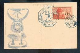 Carte Postale Journée Du Timbre Cote D'Ivoire Abidjan 1946 - Journée Du Timbre