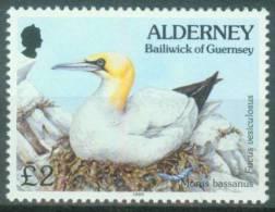 Alderney  1995  Freimarke - Fauna Und Flora - Baßtölpel 2£  (1 ** (MNH) Kpl. )  Mi: 82 (6,50 EUR) - Alderney