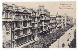 AMERICA ARGENTINA BUENOS AIRES THE MAYO AVENUE OLD POSTCARD - Argentina