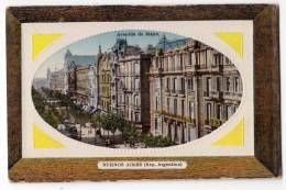 AMERICA ARGENTINA BUENOS AIRES THE MAYO AVENUE FOTO IN FRAME OLD POSTCARD - Argentina