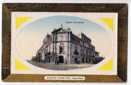 AMERICA ARGENTINA BUENOS AIRES THE CERVANTES THEATRE FOTO IN FRAME OLD POSTCARD - Argentina