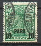 Levant Allemand - YT 23 Obl. / Deutsche Post In Der Türkei Mi.Nr. 12 II Gestempelt - Offices: Turkish Empire
