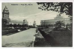 AMERICA ARGENTINA ROSARIO SAN MARTIN SQUARE THE MONUMENT OLD POSTCARD 1929. - Argentina