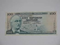 100 Eitt Hundrad  Kronur - Sedlabanki Islands - ISLANDE- - Islande